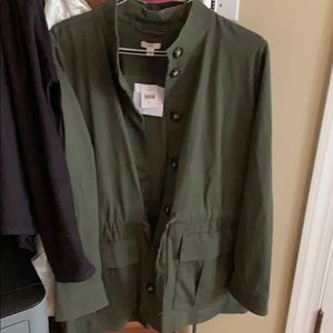 J Jill miss colored over coat military style new!